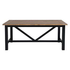 Table à manger rectangulaire bleue 4 à 6 personnes - Rivages - Visuel n°6