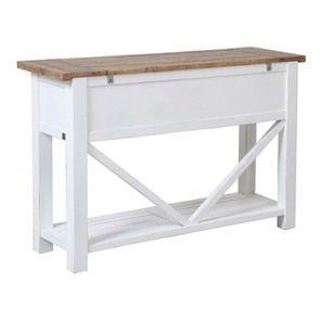 Console 3 tiroirs en bois recyclé blanc - Rivages - Visuel n°6