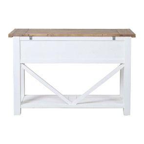 Console 3 tiroirs en bois recyclé blanc - Rivages - Visuel n°7