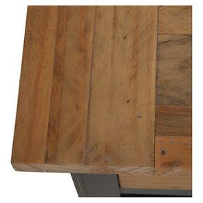 Console 3 tiroirs en bois recyclé bleu navy - Rivages - Visuel n°9