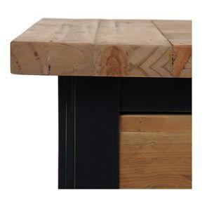 Console 3 tiroirs en bois recyclé bleu navy - Rivages - Visuel n°10