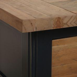 Console 3 tiroirs en bois recyclé bleu navy - Rivages - Visuel n°11