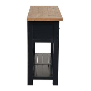 Console 3 tiroirs en bois recyclé bleu navy - Rivages - Visuel n°5