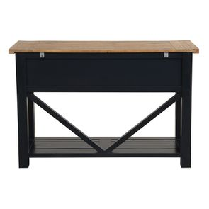 Console 3 tiroirs en bois recyclé bleu navy - Rivages - Visuel n°7