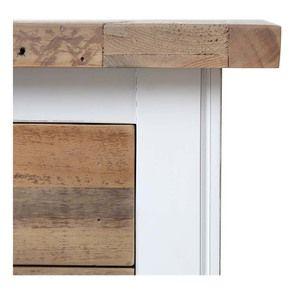 Commode chiffonnier en bois recyclé blanc - Rivages - Visuel n°11