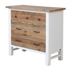 Commode 5 tiroirs en bois recyclé blanc - Rivages - Visuel n°5