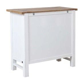Commode 5 tiroirs en bois recyclé blanc - Rivages - Visuel n°6