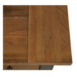 Commode 5 tiroirs en bois recyclé bleu navy - Rivages - Visuel n°9