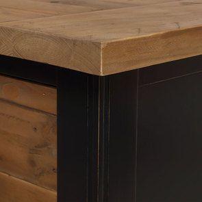 Commode 5 tiroirs en bois recyclé bleu navy - Rivages - Visuel n°10