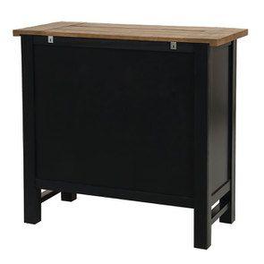 Commode 5 tiroirs en bois recyclé bleu navy - Rivages - Visuel n°6
