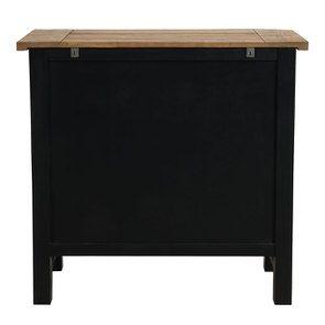 Commode 5 tiroirs en bois recyclé bleu navy - Rivages - Visuel n°7