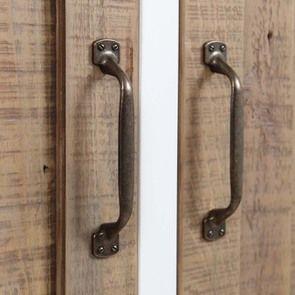 Armoire 2 portes en bois recyclé blanc -Rivages - Visuel n°6