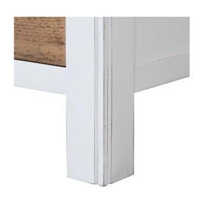 Armoire 2 portes en bois recyclé blanc -Rivages - Visuel n°10
