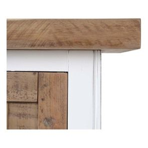 Armoire 2 portes en bois recyclé blanc -Rivages - Visuel n°14