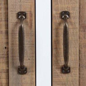 Armoire 2 portes en bois recyclé blanc -Rivages - Visuel n°16