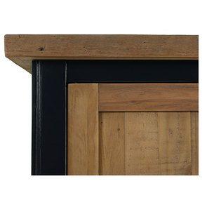 Armoire penderie 2 portes en bois recyclé bleu navy - Rivages - Visuel n°10