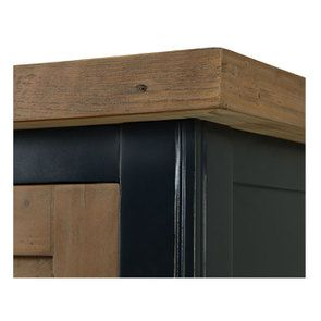 Armoire penderie 2 portes en bois recyclé bleu navy - Rivages - Visuel n°11