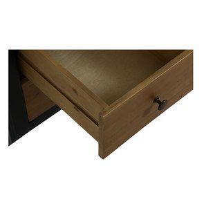 Armoire penderie 2 portes en bois recyclé bleu navy - Rivages - Visuel n°12