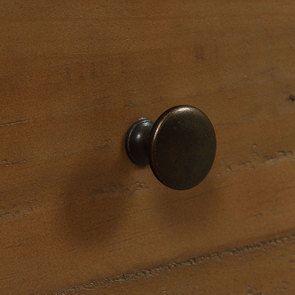 Armoire penderie 2 portes en bois recyclé bleu navy - Rivages - Visuel n°13