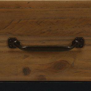 Armoire penderie 2 portes en bois recyclé bleu navy - Rivages - Visuel n°14