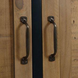 Armoire penderie 2 portes en bois recyclé bleu navy - Rivages - Visuel n°15