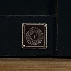 Armoire penderie 2 portes en bois recyclé bleu navy - Rivages - Visuel n°16