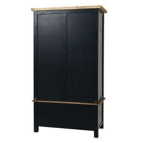 Armoire penderie 2 portes en bois recyclé bleu navy - Rivages - Visuel n°7