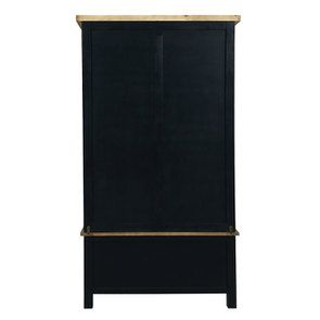 Armoire penderie 2 portes en bois recyclé bleu navy - Rivages - Visuel n°8