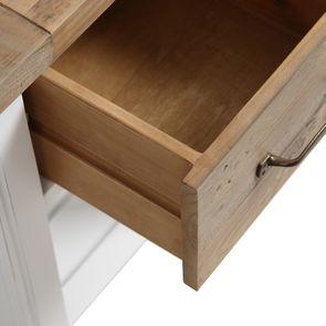 Table de chevet en bois recyclé blanc – Rivages - Visuel n°13