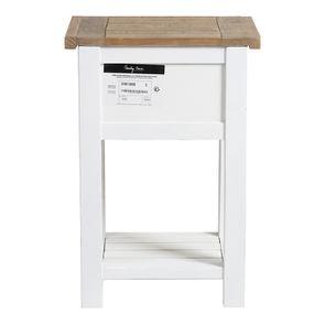 Table de chevet en bois recyclé blanc – Rivages - Visuel n°25