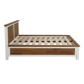 Lit 140x190 en bois recyclé blanc - Rivages