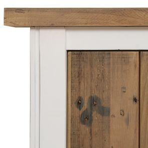 Lit 160x200en bois recyclé blanc -Rivages - Visuel n°8