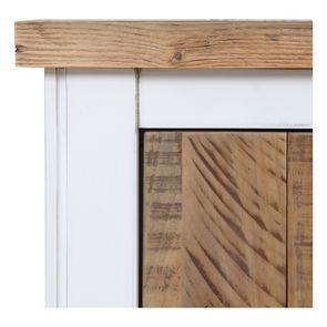 Lit 160x200en bois recyclé blanc -Rivages - Visuel n°14