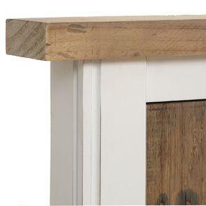 Lit 180x200 en bois recyclé blanc – Rivages - Visuel n°6