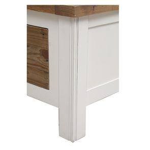 Lit 180x200 en bois recyclé blanc – Rivages - Visuel n°10