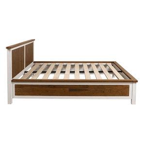 Lit 180x200 en bois recyclé blanc – Rivages - Visuel n°18