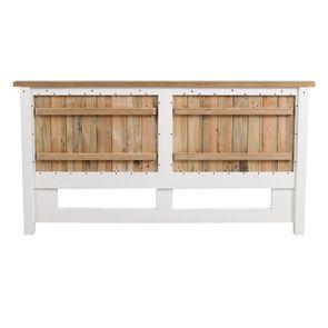 Lit 180x200 en bois recyclé blanc – Rivages - Visuel n°24