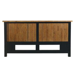 Tête de lit 140/160 cm en bois recyclé bleu navy - Rivages