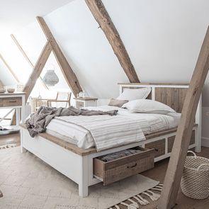 Lit 140x190 blanc avec tiroirs - Rivages - Visuel n°3