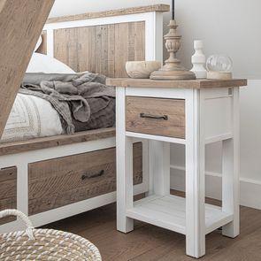 Lit 140x190 blanc avec tiroirs - Rivages - Visuel n°5