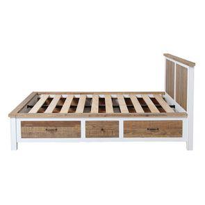 Lit 140x190 blanc avec tiroirs - Rivages - Visuel n°10