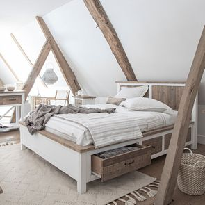Lit 160x200 blanc avec tiroirs - Rivages - Visuel n°3