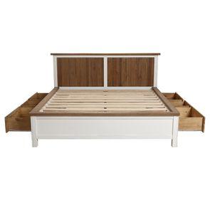 Lit 160x200 blanc avec tiroirs - Rivages - Visuel n°6