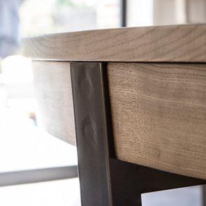Table ronde extensible en bois et métal - Demeure - Visuel n°5