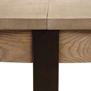 Table ronde extensible en bois et métal - Demeure - Visuel n°17