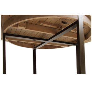 Table ronde extensible en bois et métal - Demeure - Visuel n°18