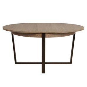 Table ronde extensible en bois et métal - Demeure - Visuel n°6
