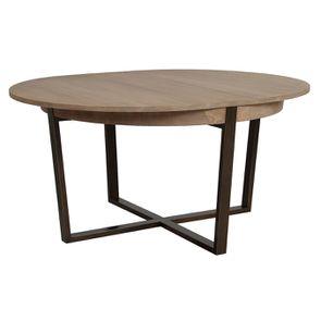 Table ronde extensible en bois et métal - Demeure - Visuel n°7