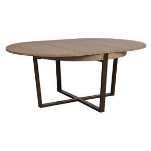 Table ronde extensible en bois et métal - Demeure - Visuel n°9