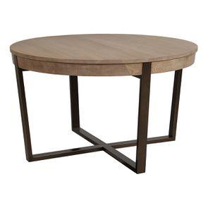 Table ronde extensible en bois et métal - Demeure - Visuel n°10